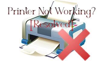 Printer not printing