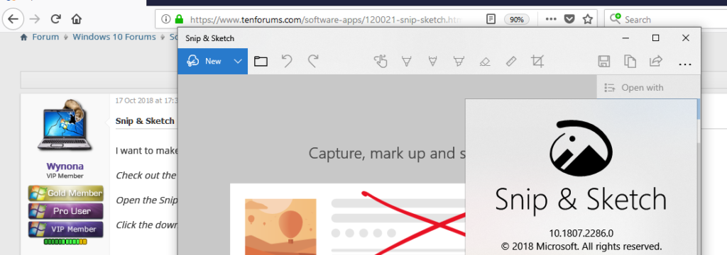How to take a screenshot on Windows 10 with Snip & Sketch Tool