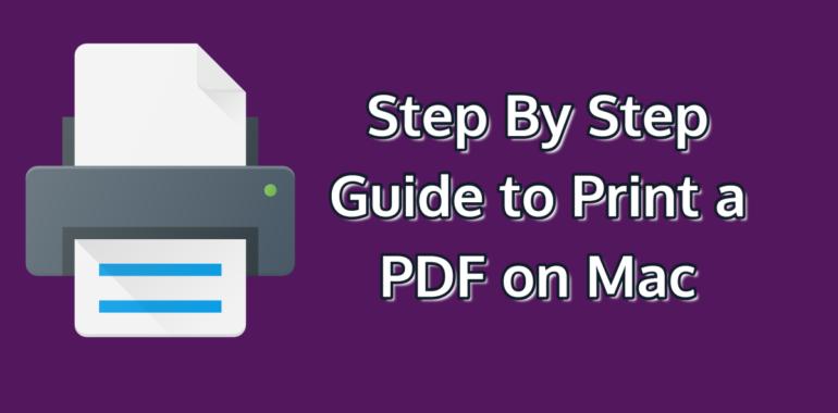 Print a PDF on Mac